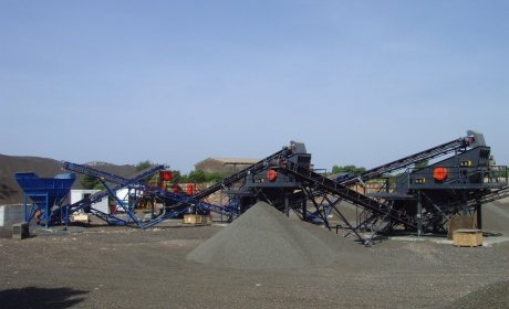 Stationary crushers and screens
